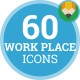 Office Work Place Workplace Animation - Flat Icons and Elements