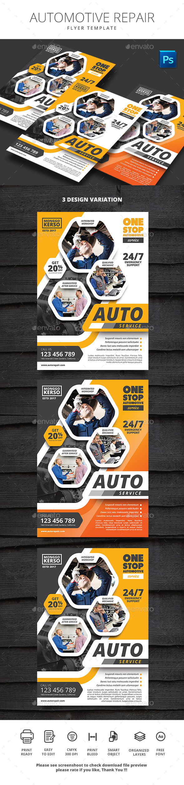 Auto Repair - Flyers Print Templates