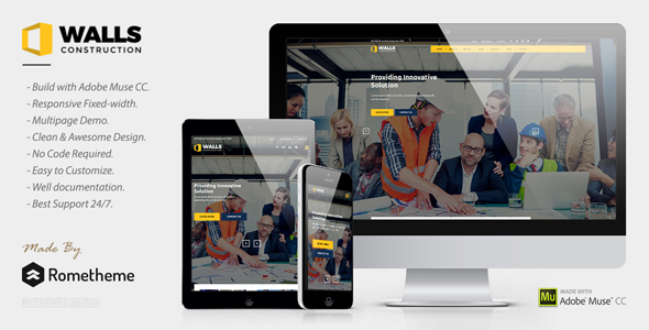 ThemeForest Walls Construction MUSE Template 20605258