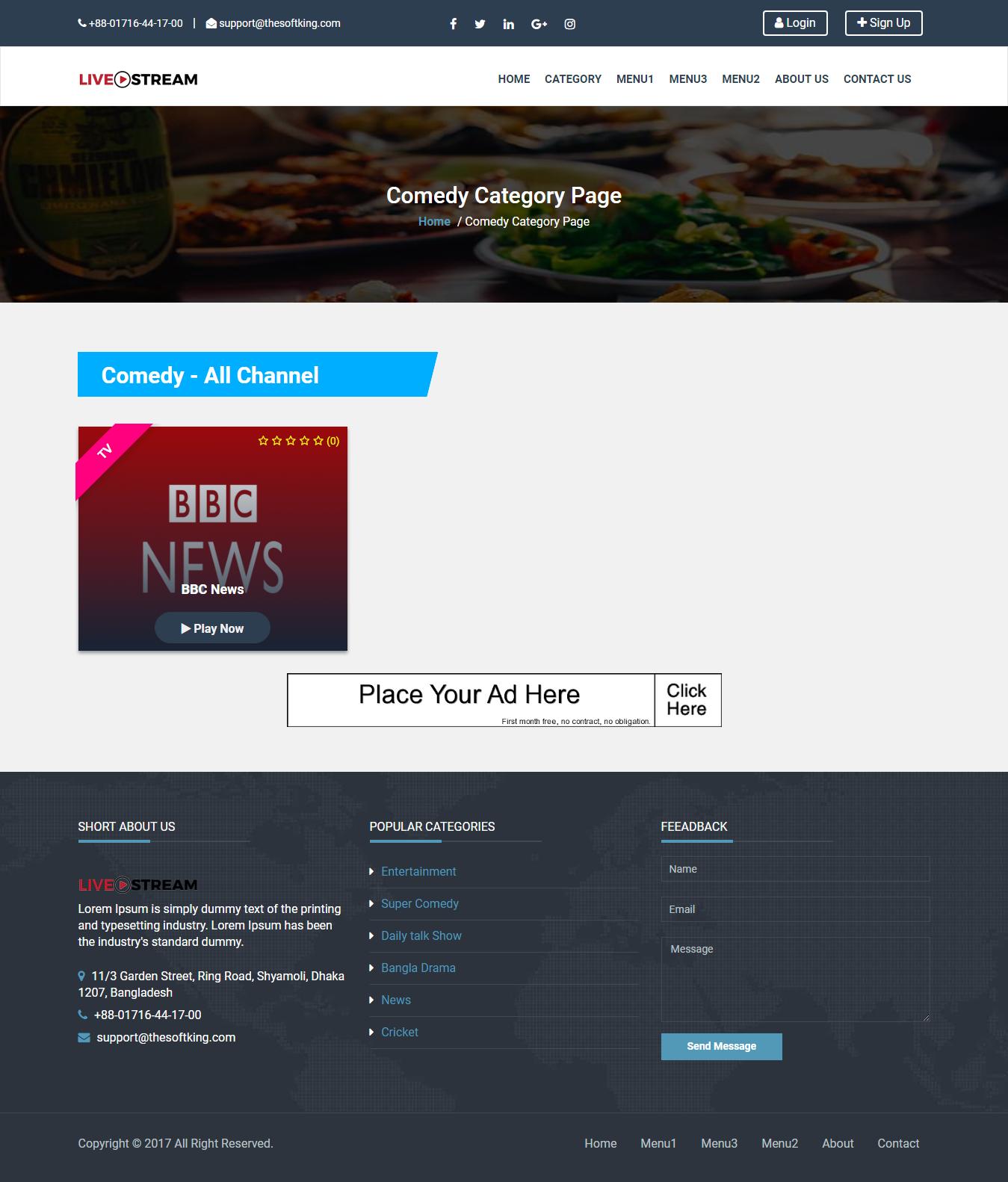 LetsPlay - Live TV Streaming & Radio Channel Listing
