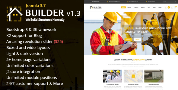 Builder - Building & Construction Joomla Template