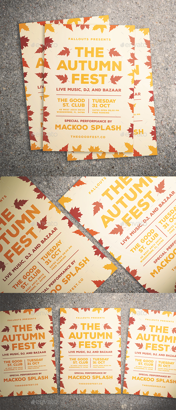 GraphicRiver Autumn Festival Flyer 20605539