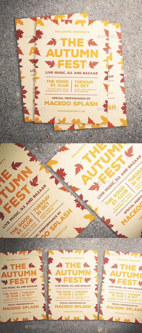 Autumn Festival Flyer - Events Flyers