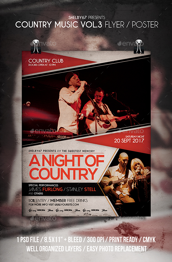 GraphicRiver Country Music Flyer Poster Vol 3 20605550