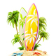Surf boards on paradise island - PhotoDune Item for Sale