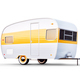 Retro trailer isolated - PhotoDune Item for Sale
