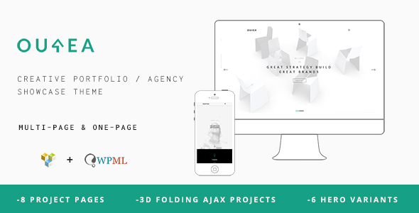 Ourea - Creative Portfolio / Agency WP Theme - Creative WordPress
