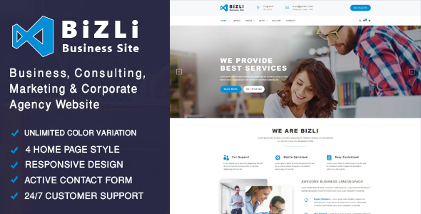 Bizli - Business Consulting, Finance, Corporate, Marketing , Agency Template - Business Corporate