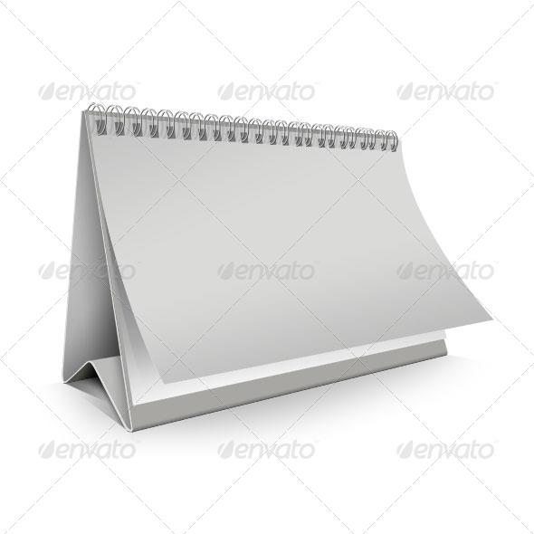 Blank Desk Calendar - Miscellaneous Print