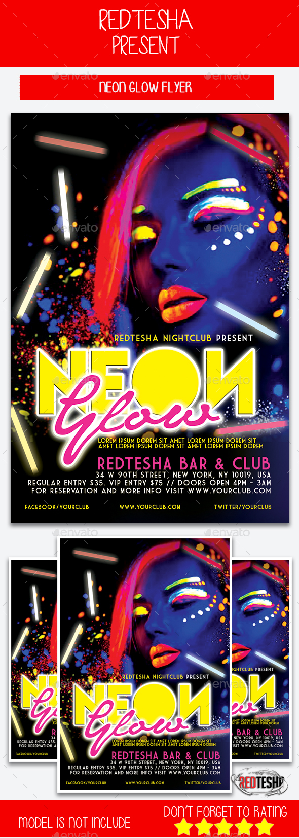 Neon Party Flyer - Events Flyers