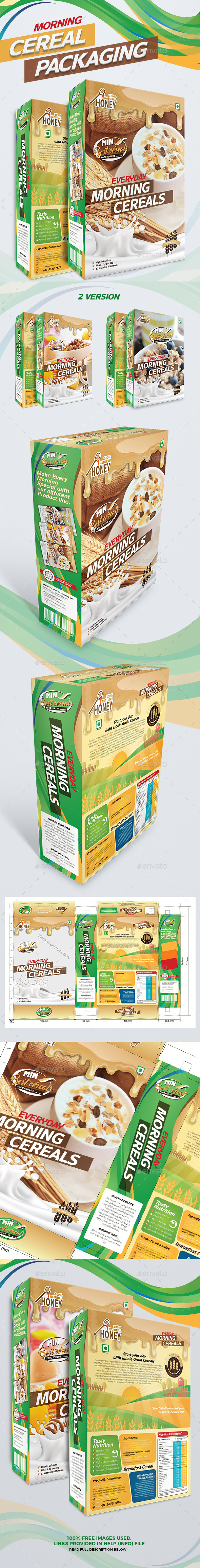 Cereal Packaging - Packaging Print Templates