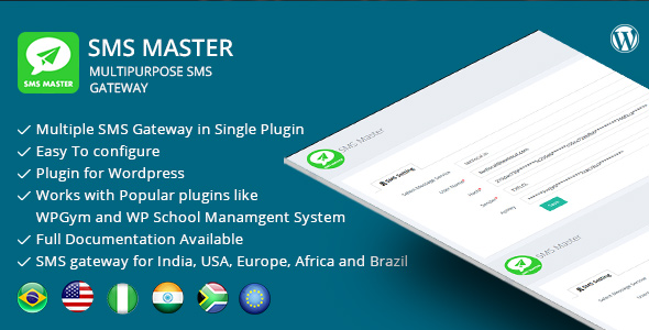 SMSmaster – Multipurpose SMS Gateway for Wordpress - CodeCanyon Item for Sale