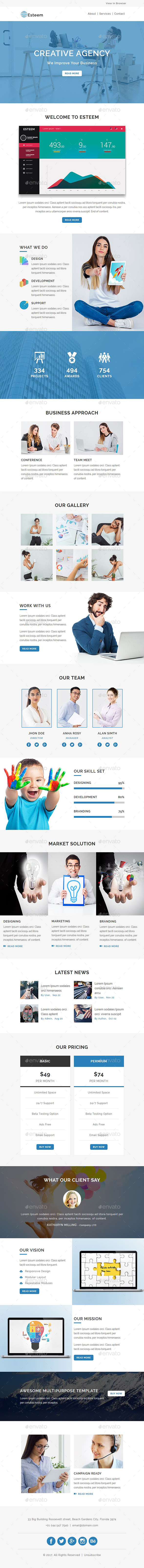 GraphicRiver Esteem Email PSD Template 20605899