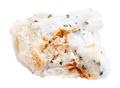 specimen of quartz rock with natural gold pieces