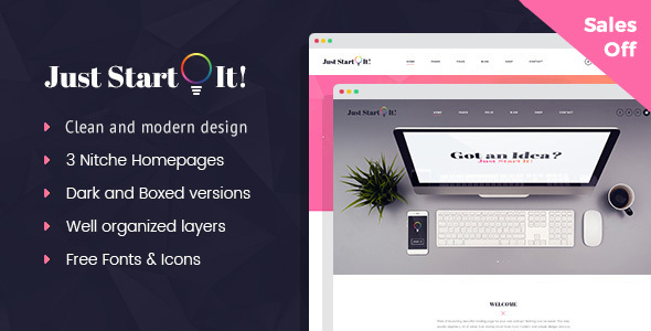 Image of Just Start It - Corporate/Business WordPress Theme