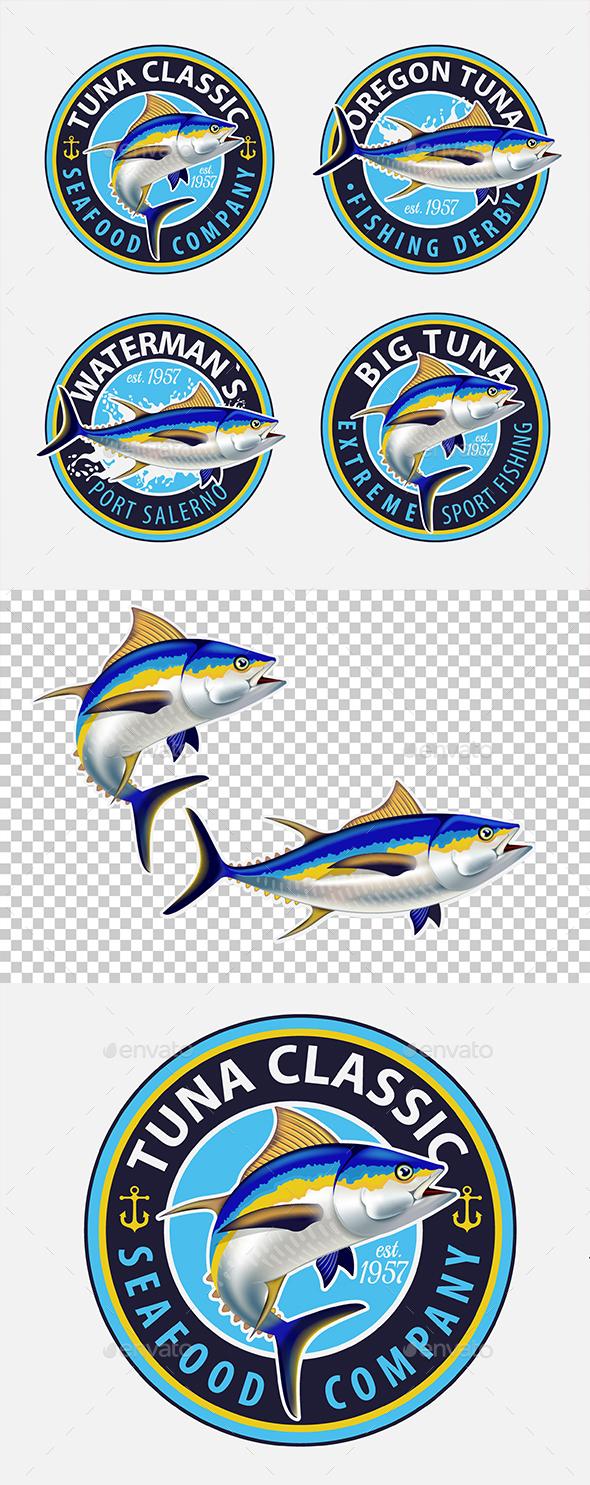 GraphicRiver Yellowfin Tuna Symbols 20606249