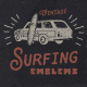 Vintage Surfing Emblems Set - GraphicRiver Item for Sale