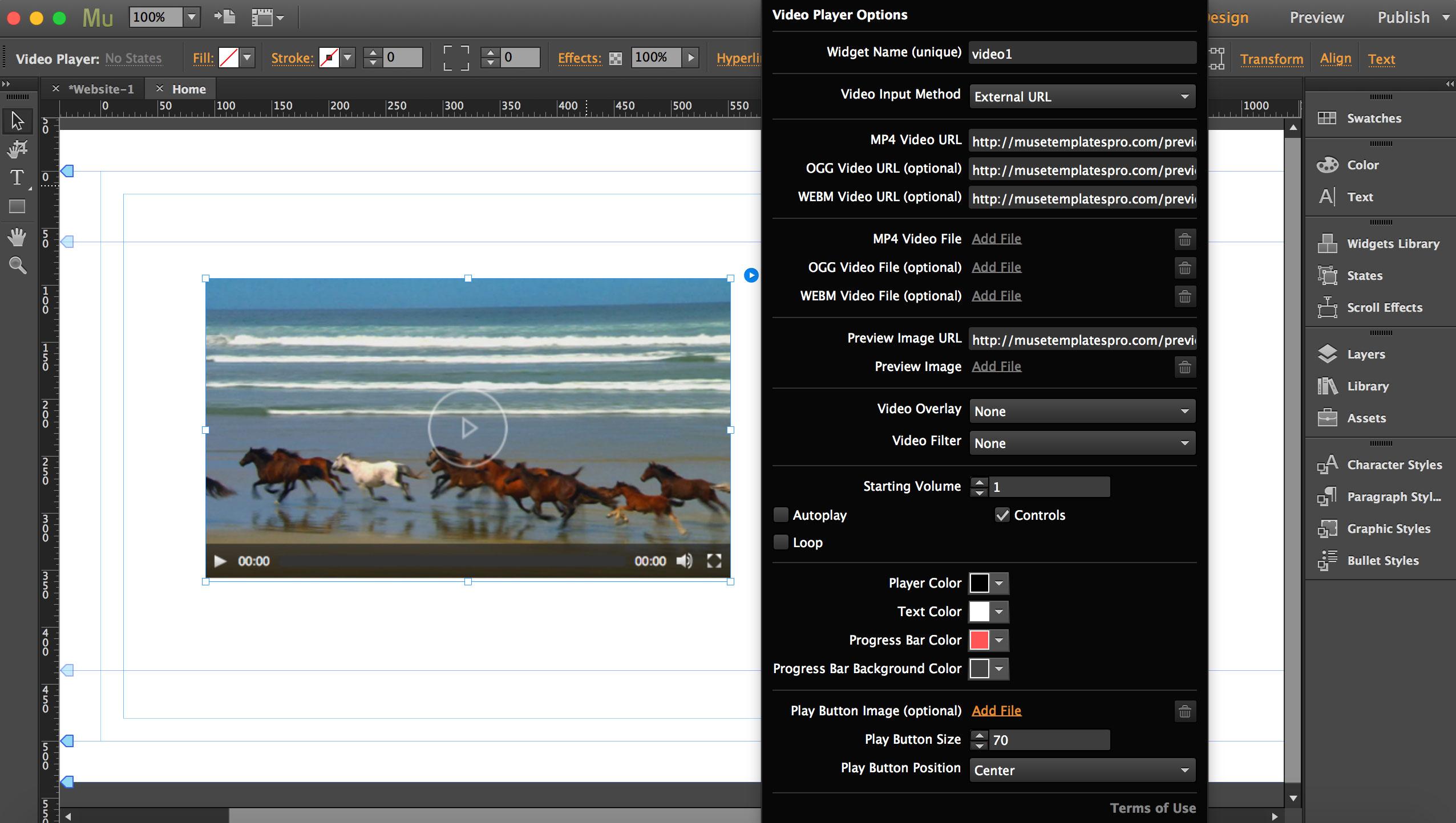 Adobe Muse Widgets Bundle
