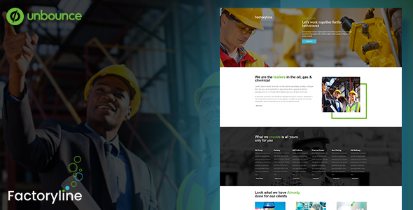 Image of Factoryline - Unbounce Template