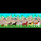 Collection of Purebred Dogs Aligned on the Town View - GraphicRiver Item for Sale