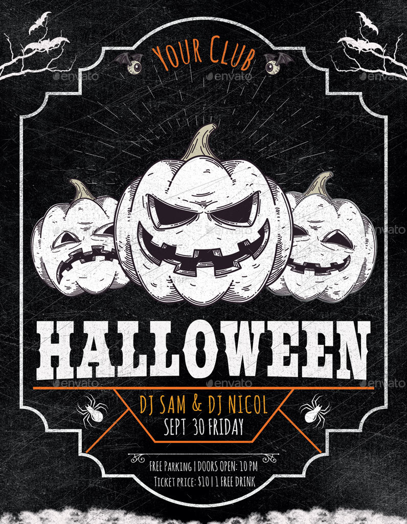 Halloween Party Flyer Poster by oloreon | GraphicRiver