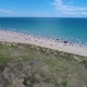 Italy, the Beach of the Adriatic Sea. Rest on the Sea Near Venice. Aerial FPV Drone Flights.