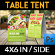 Restaurant Table Tent Template Vol.18