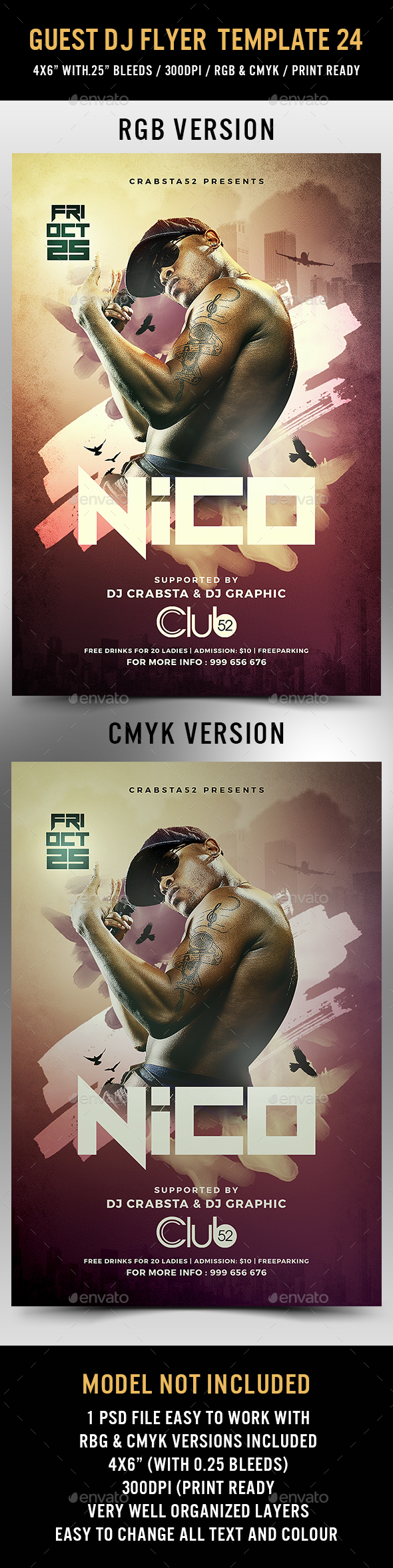 GraphicRiver Guest DJ Flyer Template 24 20606739