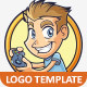 Gamer Guy Logo Template - GraphicRiver Item for Sale