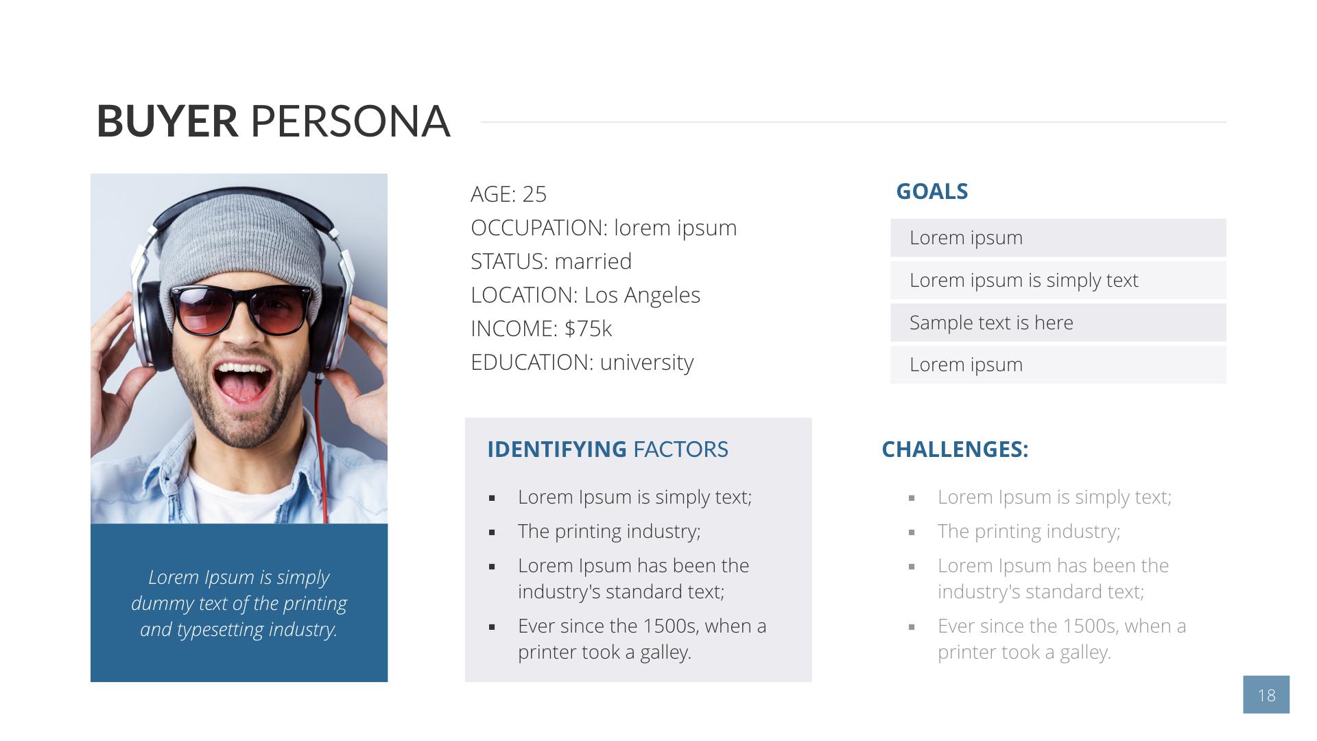 Buyer Persona Keynote Presentation Template by SanaNik | GraphicRiver