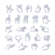 Hands Gestures Doodle Icons - GraphicRiver Item for Sale