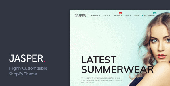 Jasper - Sectioned Drag&Drop Shopify Theme