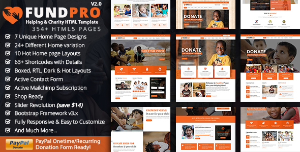 FundPro Charity Crowdfunding - Charity Nonprofit