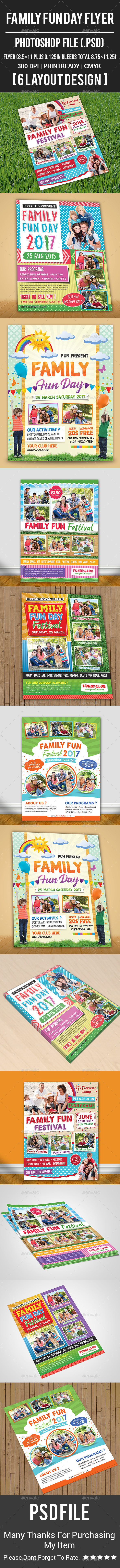 Family Fun Day Flyer - Corporate Flyers