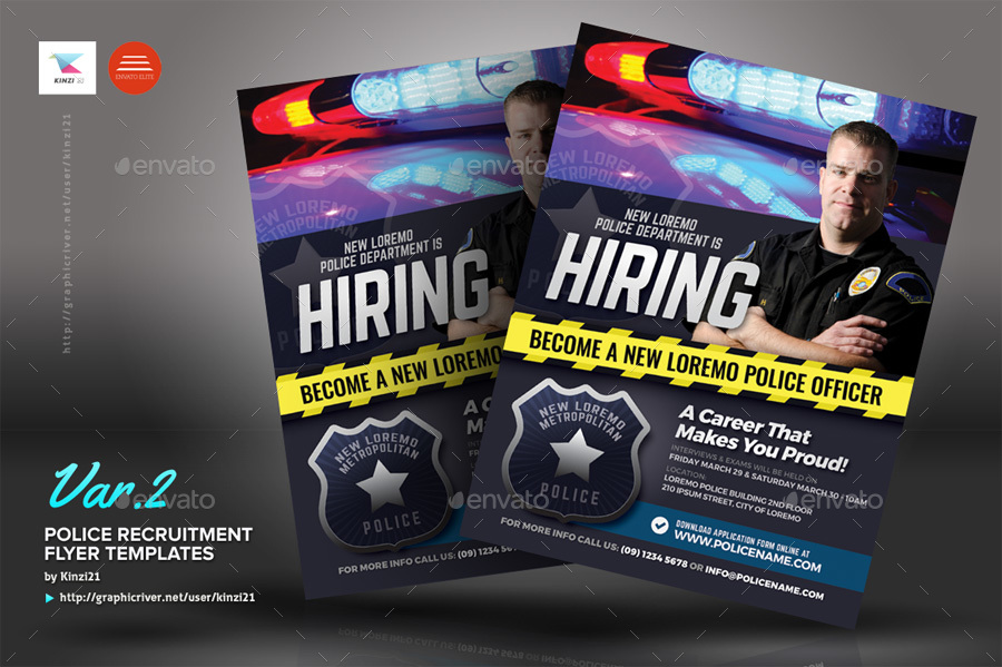 Police Recruitment Flyer Templates By Kinzi21 Graphicriver