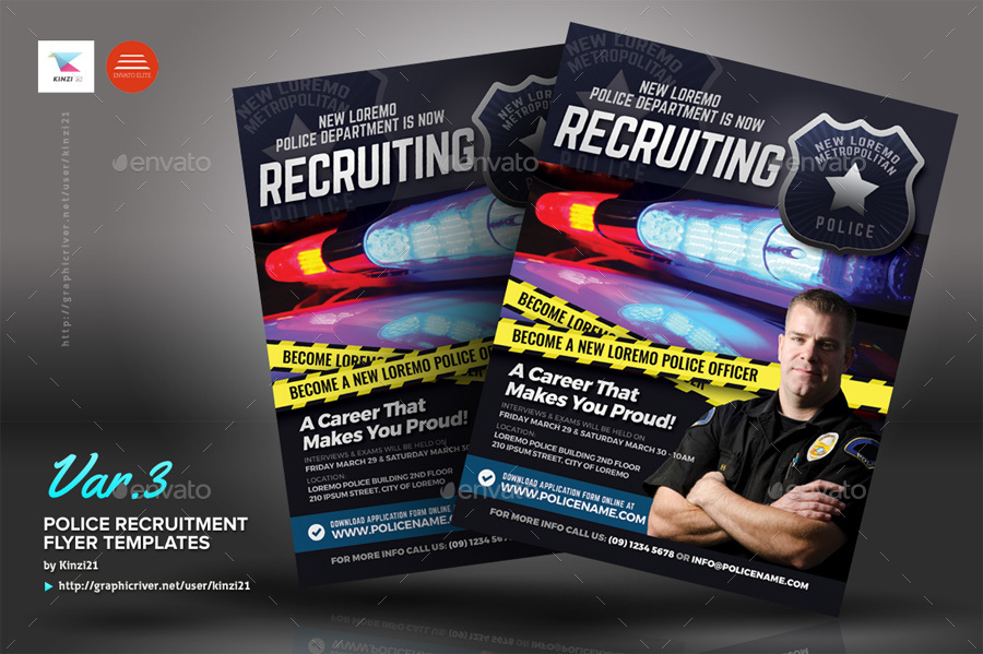 Recruitment Flyer Template | Police Recruitment Flyer Templates By Kinzi21 Graphicriver
