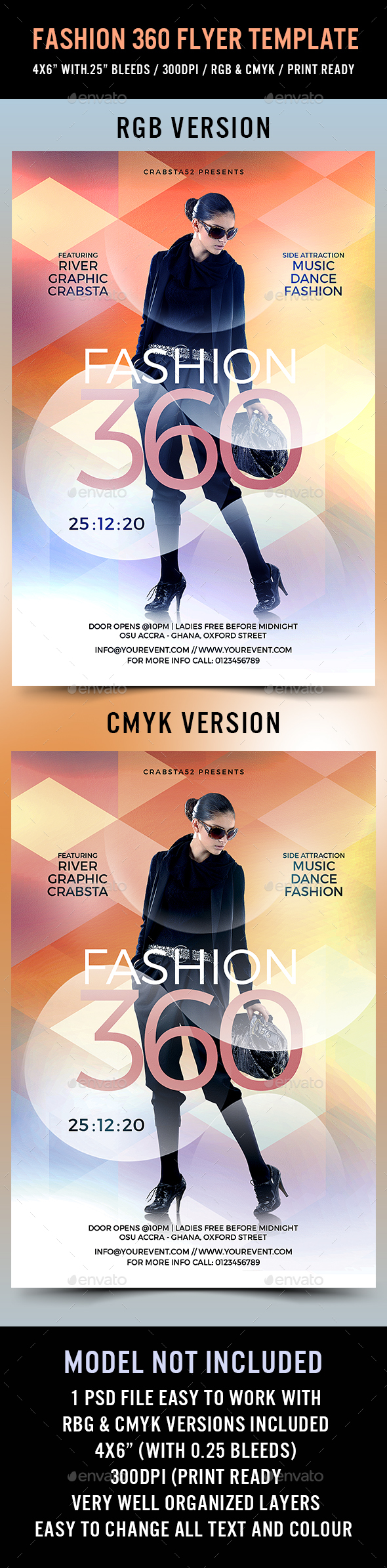 Fashion 360 Flyer Template - Flyers Print Templates