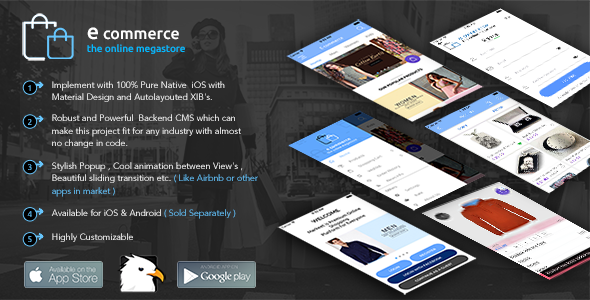 E-Commerce iOS Native App with Powerful Cloud Backend - CodeCanyon Item for Sale