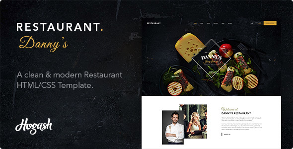 Dannys Restaurant | Restaurant and Cafe HTML template - Restaurants & Cafes Entertainment