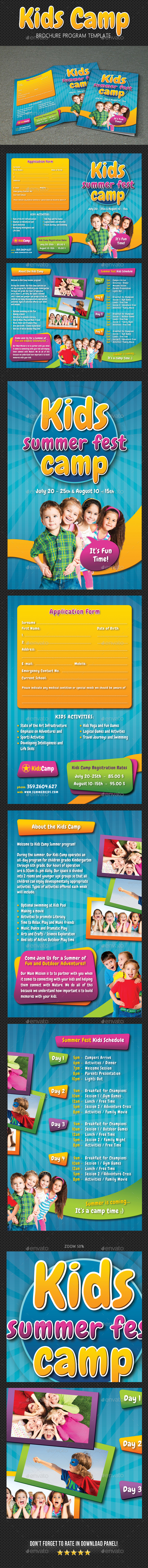 GraphicRiver Kids Summer Camp Brochure 20607636