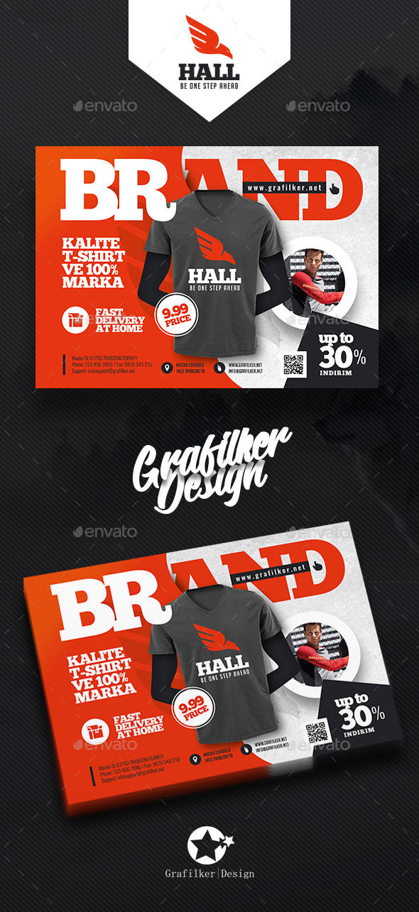 GraphicRiver T-Shirt Flyer Templates 20607778