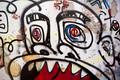 Head on a graffiti