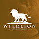Wild Lion Crest Logotype