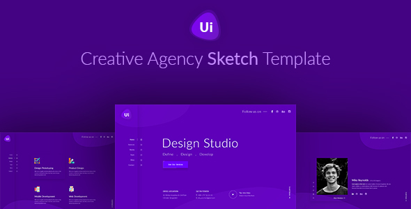 ThemeForest Design Studio Creative Agency Sketch Template 20422871