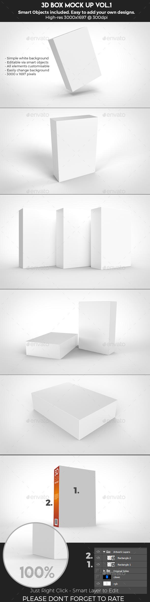 3D Box Mock Up