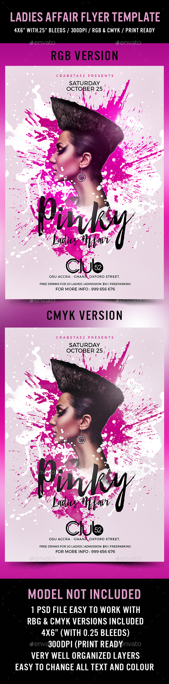 Ladies Affair Flyer Template - Flyers Print Templates