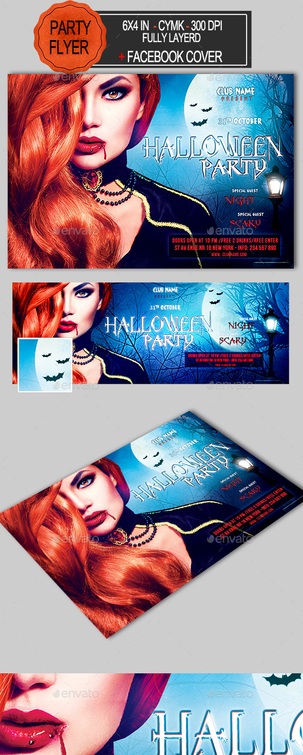 GraphicRiver Halloween Party Flyer 20608829