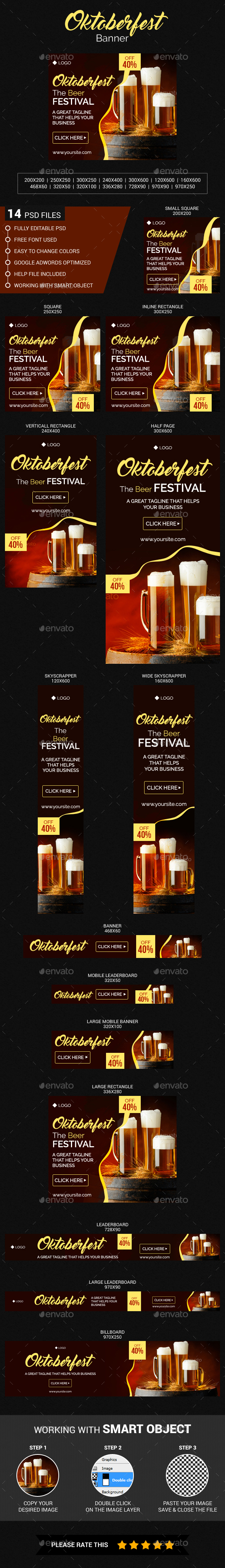 Oktoberfest Banner - Banners & Ads Web Elements