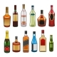 Vector Icons of Alcohol Drinks Bottles - GraphicRiver Item for Sale