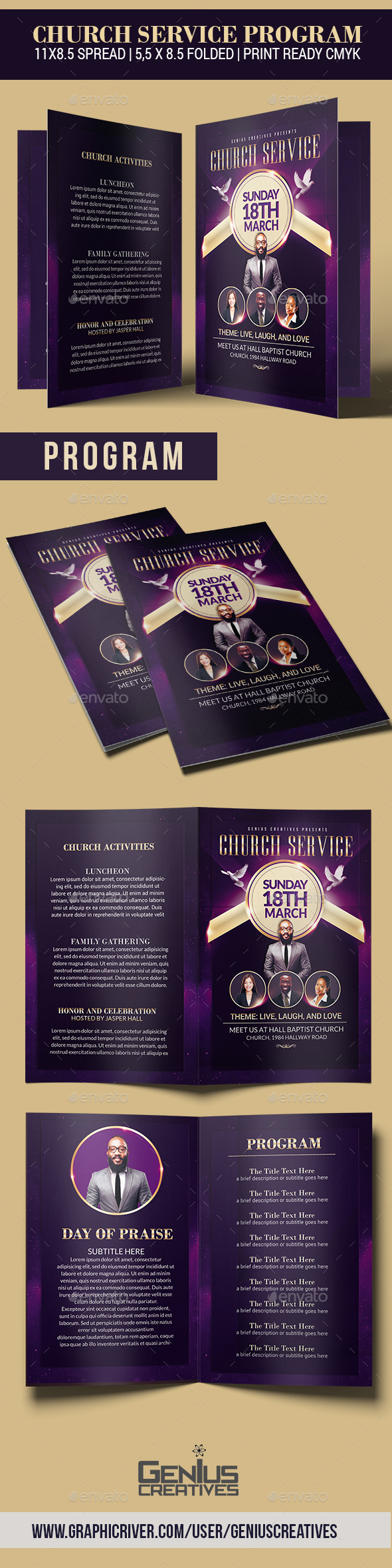 GraphicRiver Church Service Program 20609365